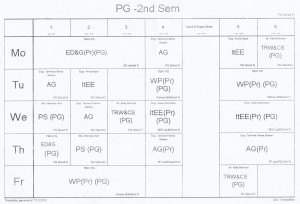 2nd-semester-time-table
