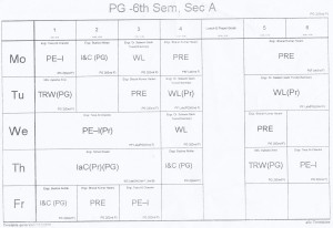6th-semester-sec-a-time-table