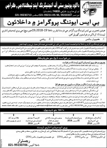 Final Admissions in BS Oct-18 (DUET) 22 x 4 Sindhi pid-1479